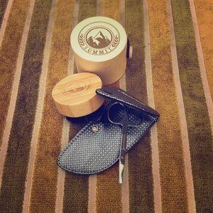 Beard brush and grooming set